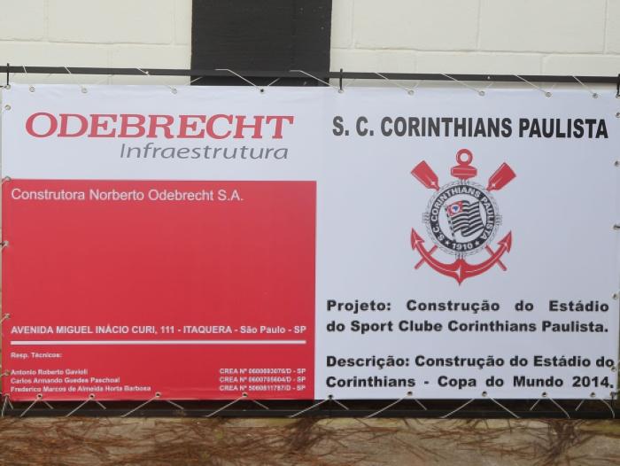 Acordo entre Corinthians e Odebrecht, prevê fim de juros e multa