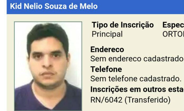 Resultado de imagem para médico traumatologista Kid Nélio de Souza Melo
